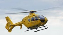 Road accident Casualty Airlifted to Hospital