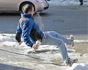 slip on ice accident