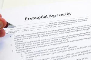signing a prenup marriage contract