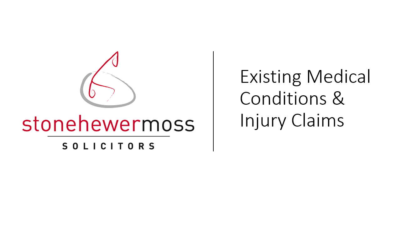 Existing Medical Condition & Claims – Pre-existing Back Injury Settlement